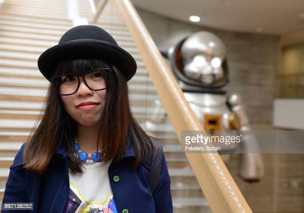 """Students at """"Kyoto University of art and design"""" in Kyoto on March 29, 2015 in Kyoto, Japan."""