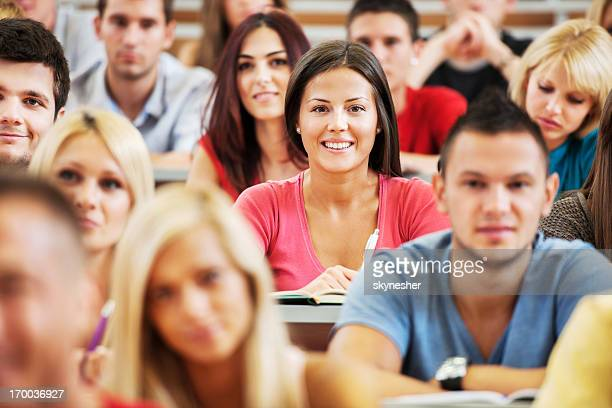 Students at lecture hall.