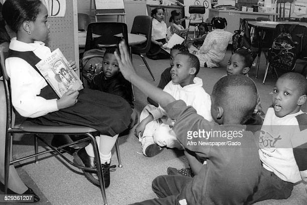 Students at Malcom X Primary School Baltimore Maryland 1996