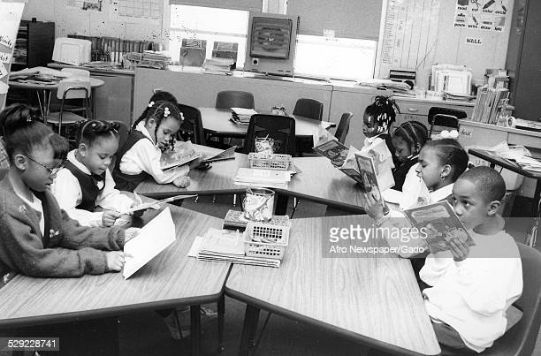 Students at Malcom X Primary School Baltimore Maryland March 23 Original Caption Reads 'File Malcom X Primary School Slug School Ms Laura Jones Class...