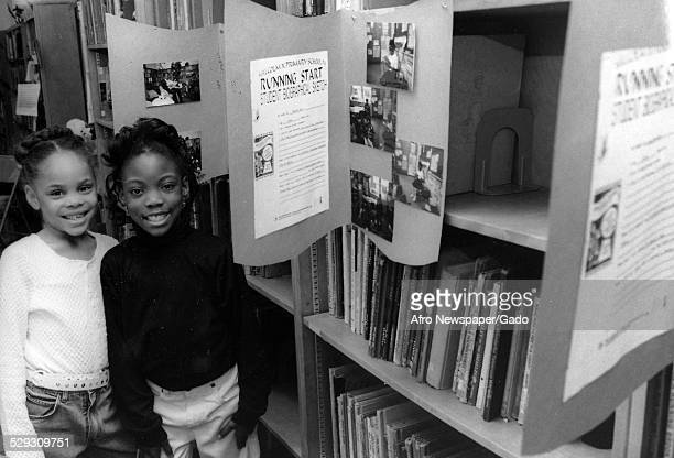 Students at Malcom X Primary School March 23 Original Caption Reads 'File Malcolm X Primary School Second Graders At Left Ariana Warrington 7 Years...