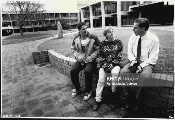 Students at Mitchell College of Adv Educating LR Tim Ashwood 22 Margaret Mort 20 Scott Bolles 21 June 26 1987