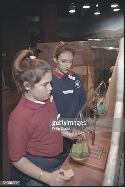 students at museum exhibit - field museum of natural history stock pictures, royalty-free photos & images