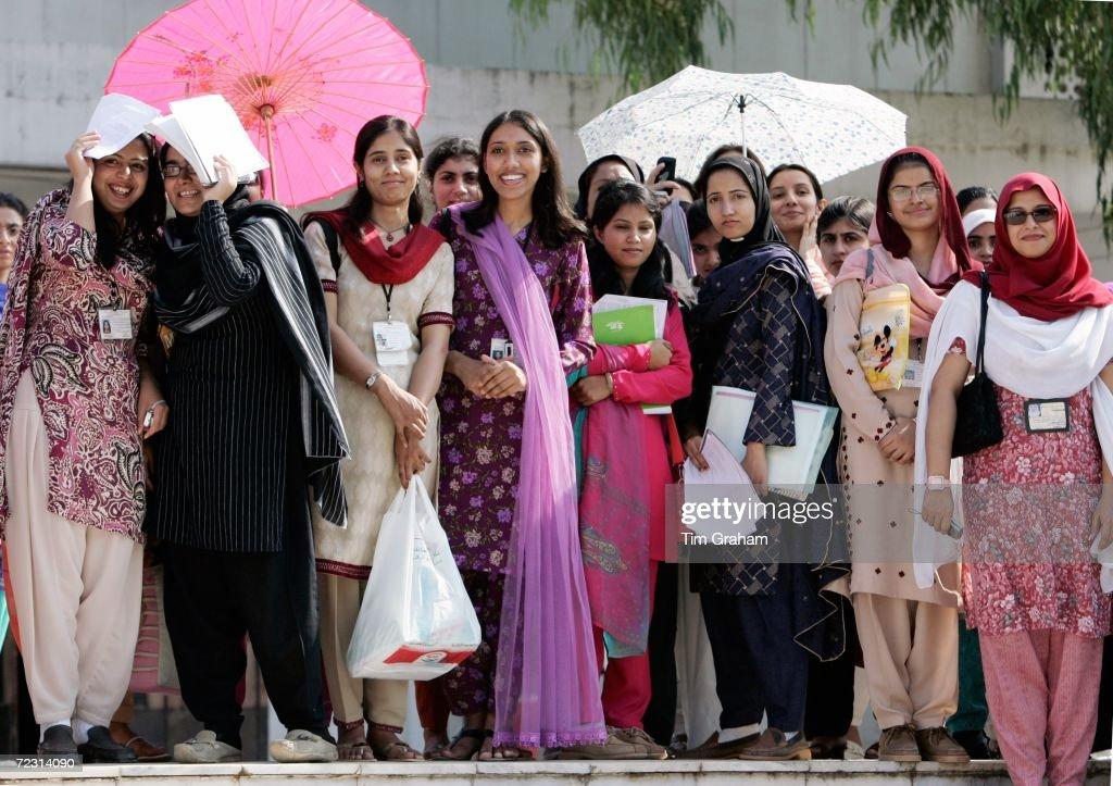 Students At Fatima Jinnah University : News Photo