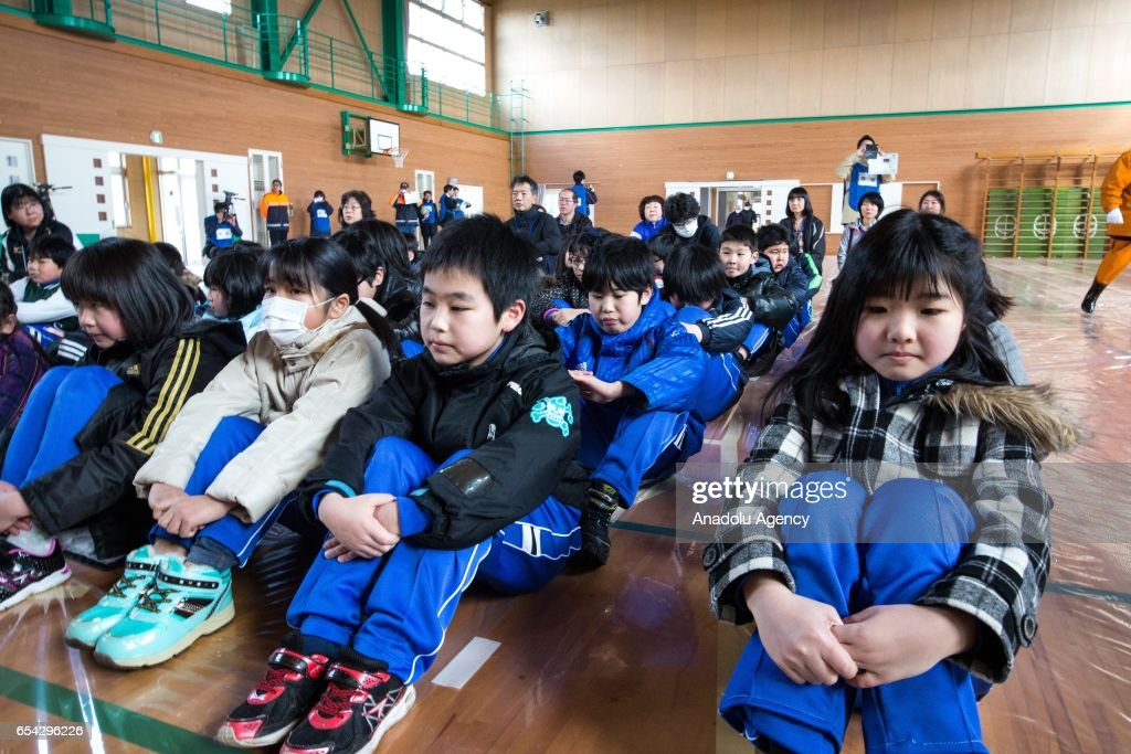 Missile Evacuation Drill in Japan  : News Photo