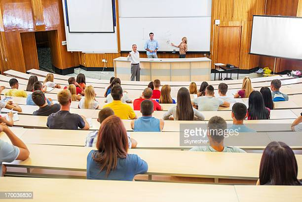 students at the lecture. - university stock pictures, royalty-free photos & images