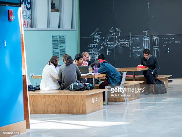 Students at the Stata Center at Massachusetts Institute of Technology in Cambridge MA on October 212013