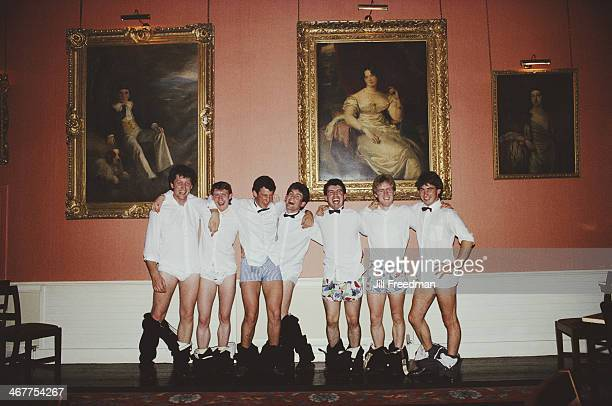 Students at the University of Dublin attend a college ball Dublin Ireland 1988