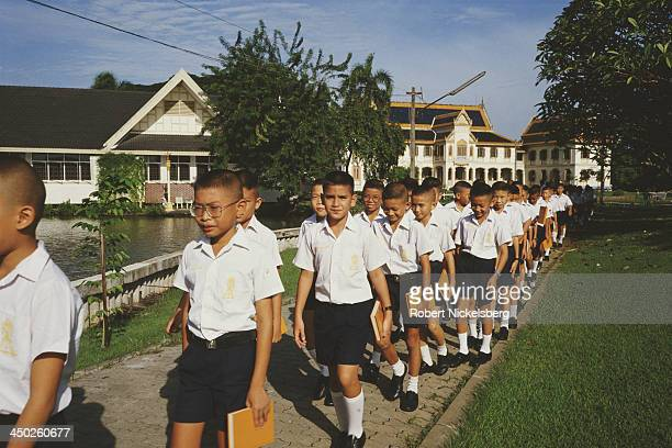 Students at Vajiravudh College Bangkok Thailand circa 1987