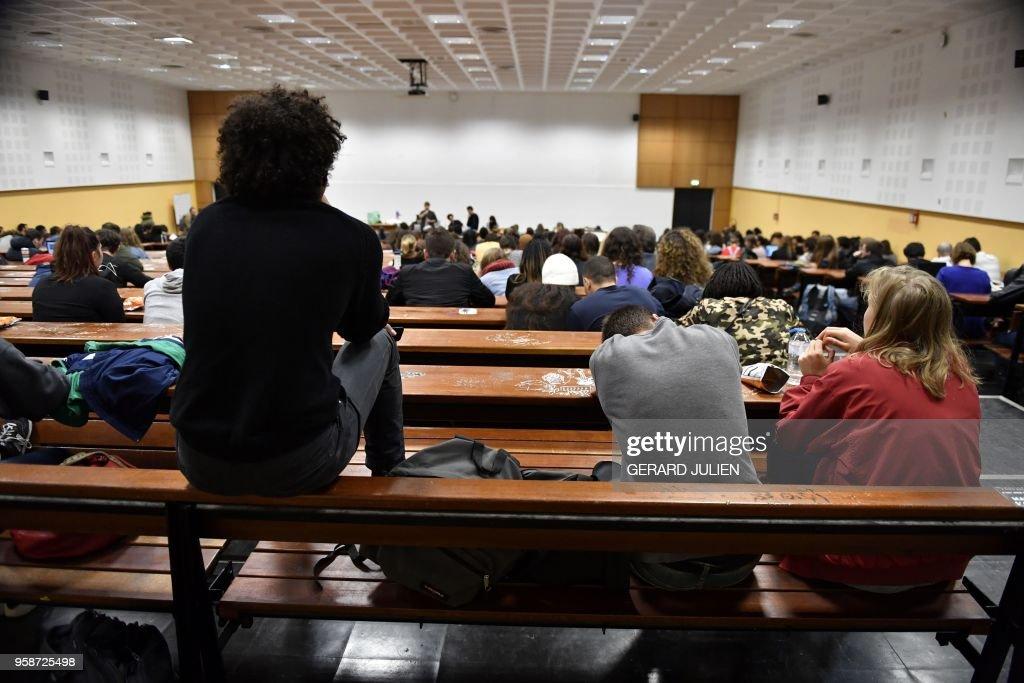 FRANCE-EDUCATION-UNIVERSITY-POLITICS : News Photo