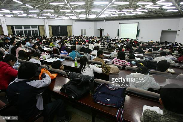Students attend a lesson at the Northeast Normal University on March 22 2007 in Changchun of Jilin Province China China will institute free education...