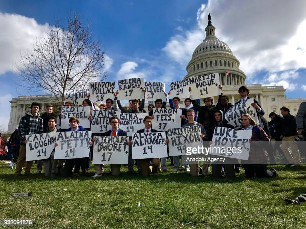 Students attend antigun rally on the West Front of the Capitol on March 14 2018