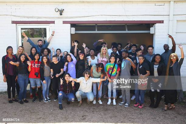 Students attend the Empathy Lab AntiBullying Workshop hosted by Refinery29 Kesha and Columbia University School of the Arts Digital Storytelling Lab...
