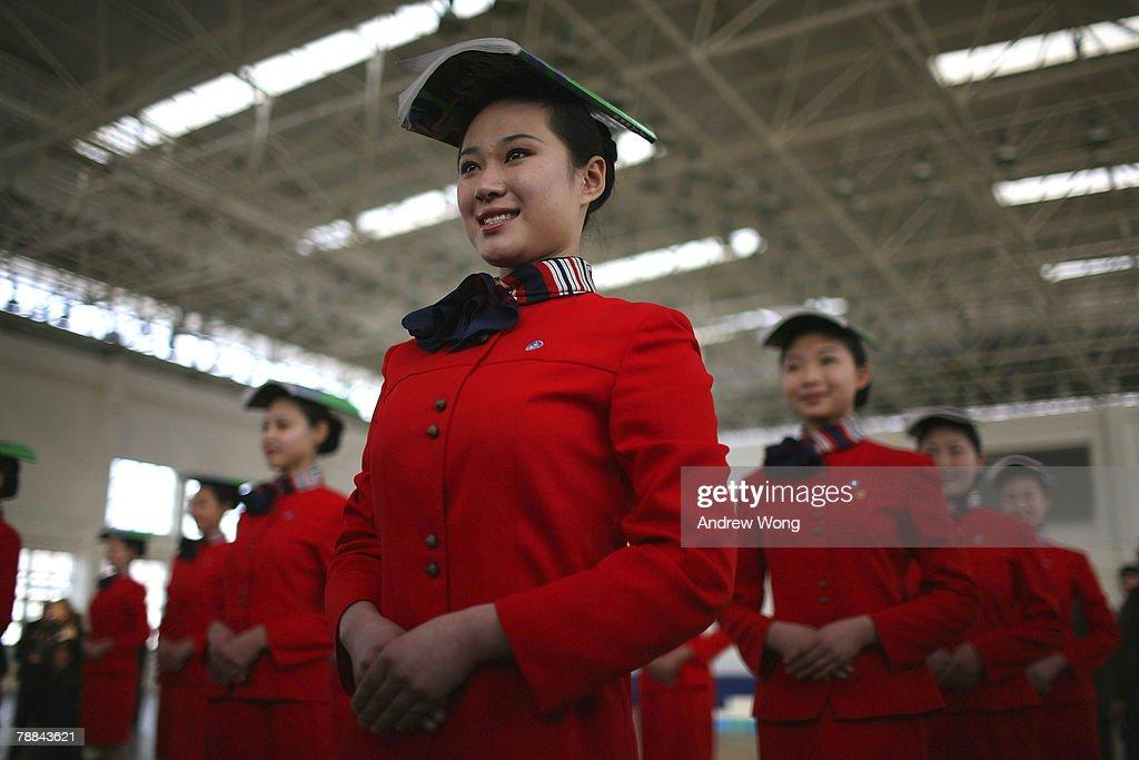 Olympic Preparations - Hostesses Training : News Photo