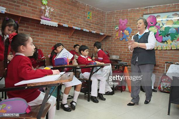 Students begin their first day of classes in basic education at Atenea School on August 20 in Mexico City Mexico Around 275 million kids started...