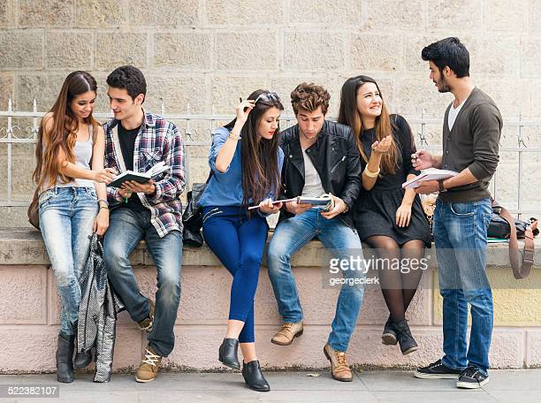 Students between lectures