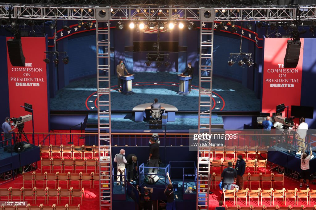 Cleveland Prepares For First Presidential Debate : News Photo