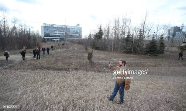 TORONTO ON MARCH 9 Students check out the area for the first time in person They are redesigning the land near the BMW dealership off of Eastern Four...