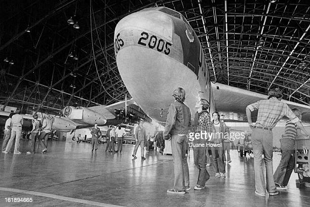 SEP 29 1976 SEP 30 1976 Students Check Out USAF High school seniors most from the Denver area check out a US Air Force bomber above at Lowry Air...
