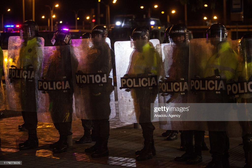 Student protest in Colombia : News Photo
