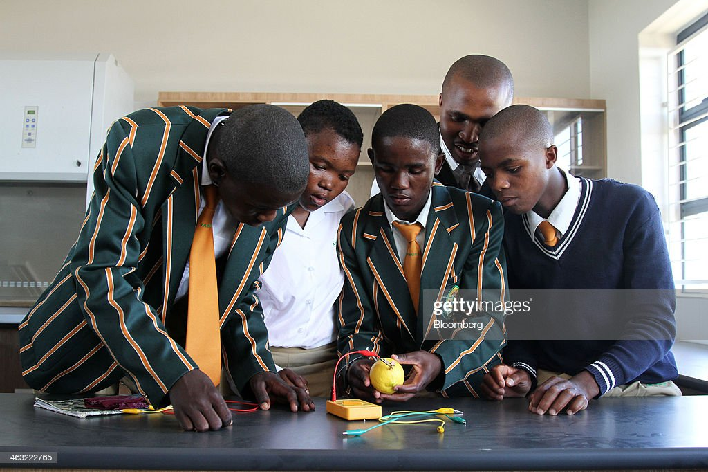 Opening Of The Siemens AG Funded Mandela School Of Science And Technology : News Photo