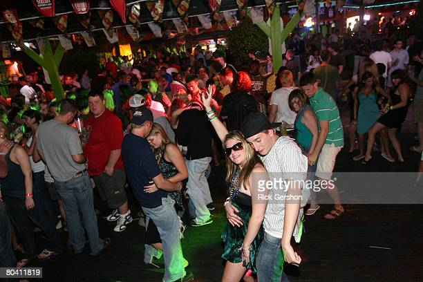 Students dance the night away at Tequila Frogs night club during the annual ritual of Spring Break March 25 2008 on South Padre Island Texas The...
