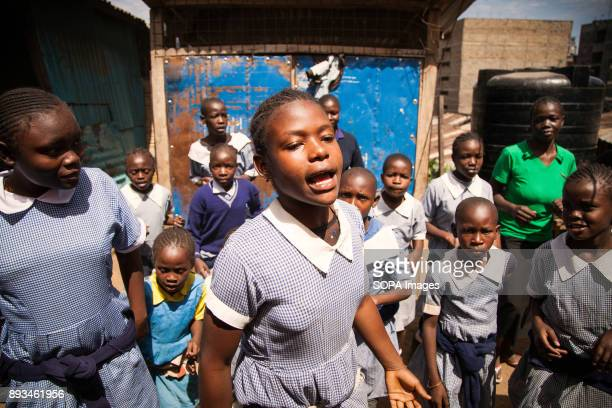 Students dancing during a welcome party for new volunteers Ngota's Upendo Primary School is a small school located in the heart of Mathare Slum...