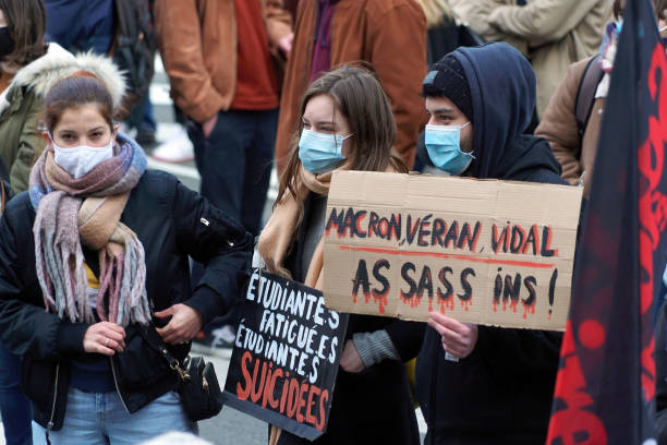 FRA: Lille's Students Join Nationwide Protest Demanding Support Amid Pandemic