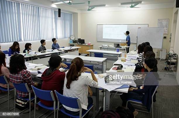 Students during a tutorial at the Hanoi Law University on October 31 2016 in Hanoi Vietnam
