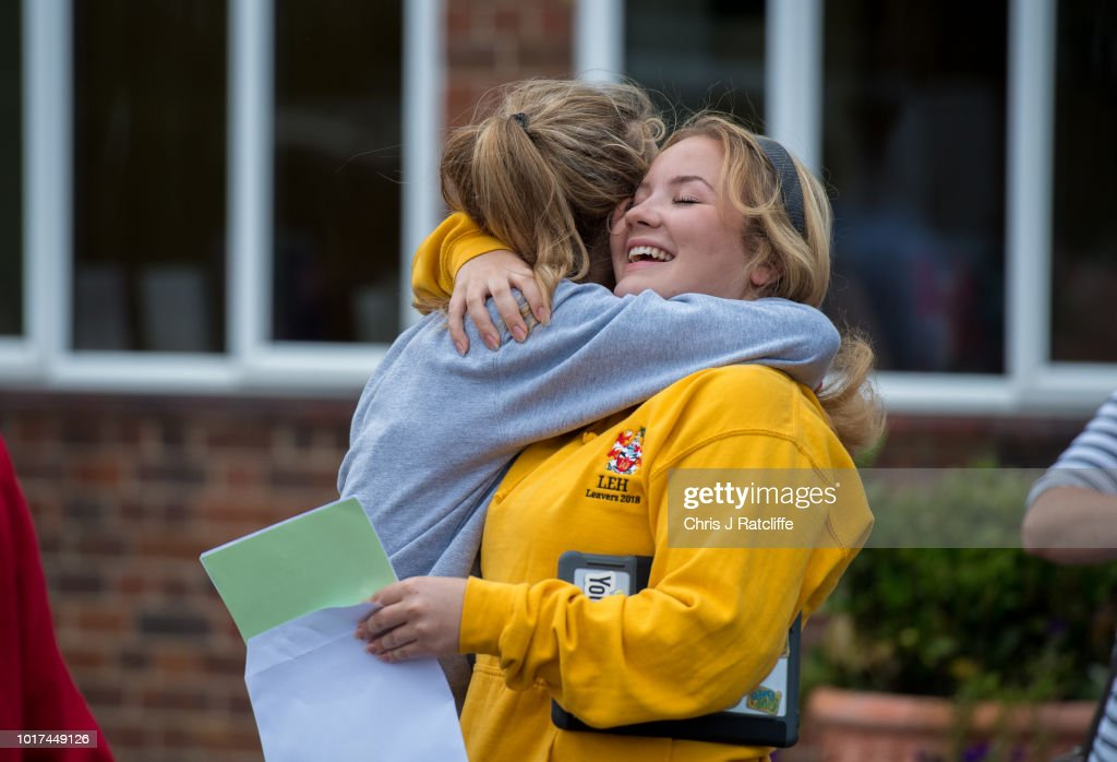 Pupils Receive Their A Level Results Across England