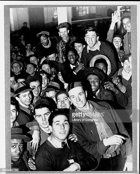 Students employed part-time through the National Youth Administration program, created by Franklin D. Roosevelt as part of his New Deal.