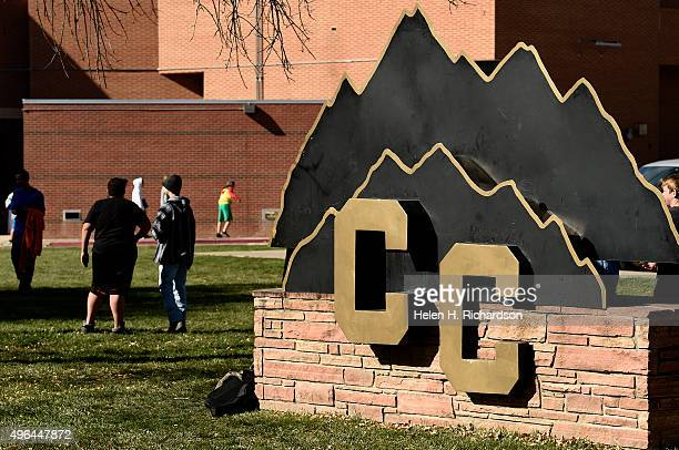 Students enjoy the fall weather on campus during lunch at Canon City High School which is at the center of a recent sexting scandal that officials...