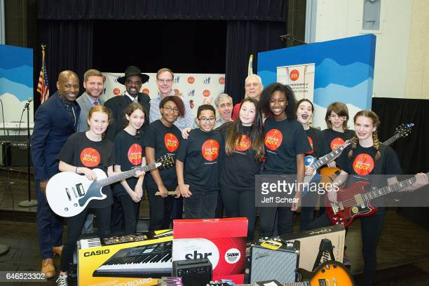 Students Evan Plummer Jeff Waraksa Nick Colionne Dick Hoffman David Wish and guest attend Chicago Public School Announces Music Program Expansion...