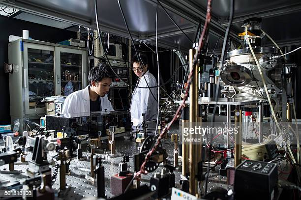 students examining at science laboratory - place of research stock pictures, royalty-free photos & images