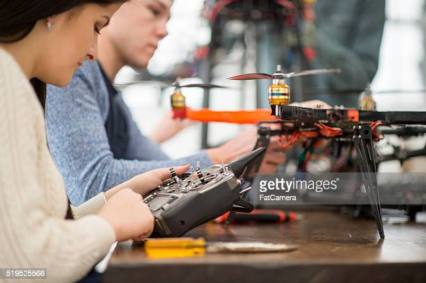 Students Fixing a Mechanical Drone