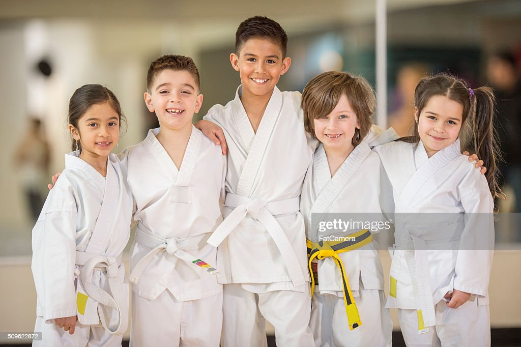 Students From a Karate Class : Stockfoto