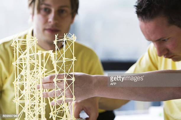 Students from all over Holland gather to build bridges and towers of spaghetti that can carry as much weight as possible during the Dutch National...