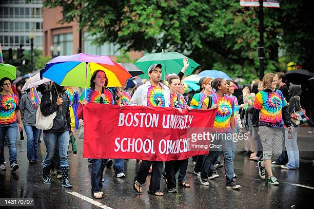Students from Boston University in Boston Pride 2011