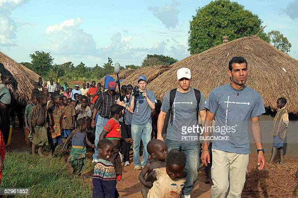 Students from Concordia university Canada visit a childrens village in Gulu northern Uganda 21 May 2005 where children displaced by war are sheltered...
