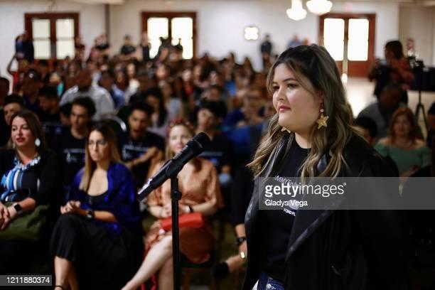 Students from Escuela Especializada de Bellas Artes Ernesto Ramos Antonini of Yauco participate as the Latin GRAMMY Cultural Foundation donates...