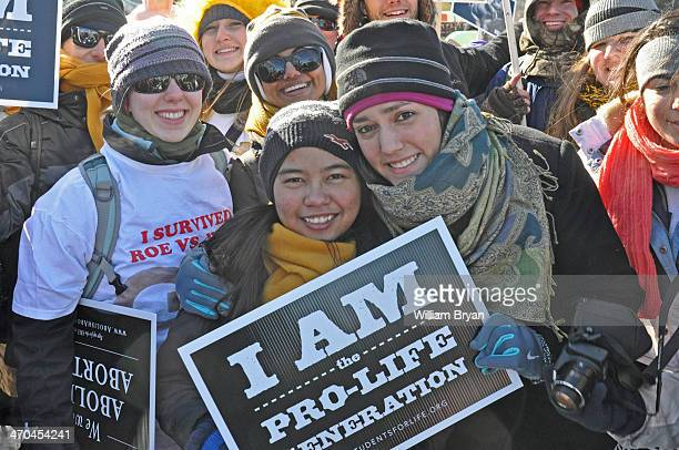 Students from Georgia Tech University join thousands of other pro-life supporters on the National Mall in Washington, D.C., for the annual March for...