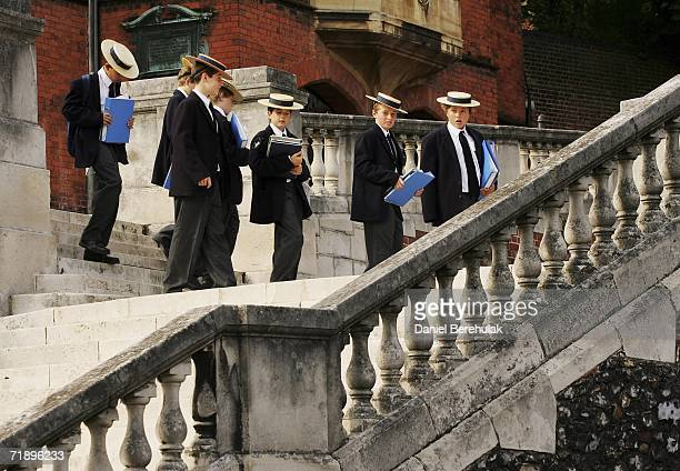 Students from Harrow school move between classes on September 15 2006 in London England Police were called last night to an address in Peterborough...