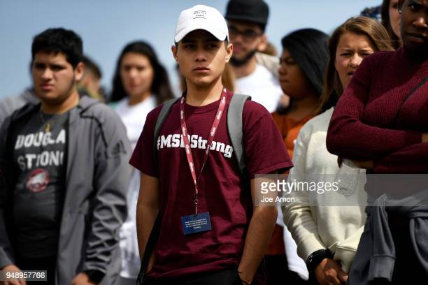 Students from Marjory Stoneman Douglas High School Pittsburgh Columbine as well as survivors from Arapahoe and Aurora walk from the Columbine...