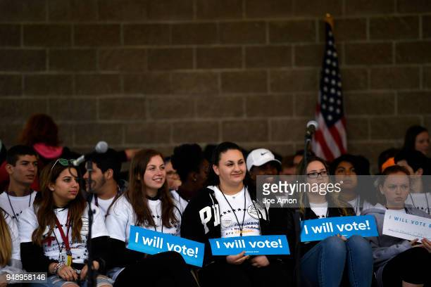 Students from Marjory Stoneman Douglas High School Pittsburgh Columbine as well as survivors from Arapahoe and Aurora during the Vote for Our Lives...
