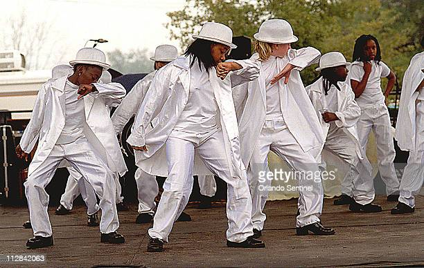 Students from Midway Elementary School in Sanford compete in the step show at the 11th Annual Zora Neale Hurston Festival of the Arts and Humanities,...