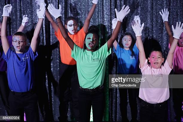 Students from Minnesota peform during the White House Turnaround Arts Talent Show in the East Room at the White House May 25 2016 in Washington DC...