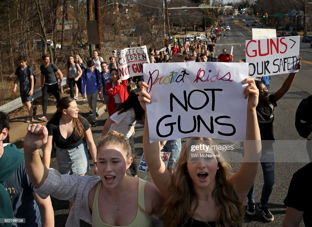 Students Walkout To Protest Gun Laws
