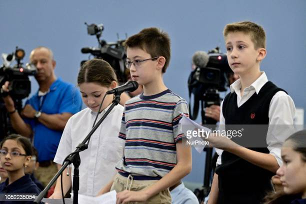 Students from Pittsburgh ask questions to candidates for the seat of Governor incumbent Tom Wolf and Scott Wagner at a forum at the School District...