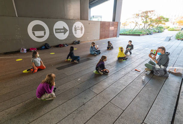 NY: Students From PS 11 Elementary School Participate In Outdoor Learning On The High Line