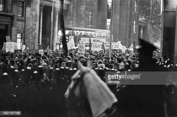 Students from several universities from all over Britain demonstrate through London on their way to The London School of Economics Students march...